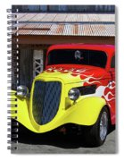 Ford Flaming Hot Rod Spiral Notebook