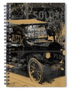 Ford Model T Made Using Found Objects Spiral Notebook