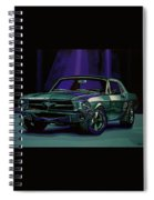 Ford Mustang 1967 Painting Spiral Notebook