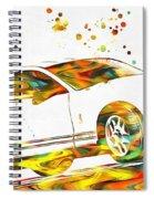 Ford Mustang Paint Splatter Spiral Notebook