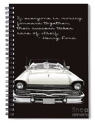 Ford Success Poster Spiral Notebook