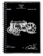 Ford Tractor Patent 1919 Black Spiral Notebook