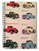 Ford Truck Stamps Spiral Notebook