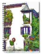 Foreshortening Of House Covered With Climbing Plants Spiral Notebook