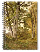 Forest At Fontainebleau Spiral Notebook