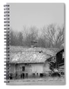 Forest Avenue Barn Bw Spiral Notebook