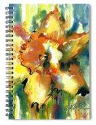 Forest Daffodil In Rain Spiral Notebook