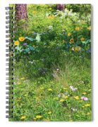 Forest Flowers Landscape Spiral Notebook