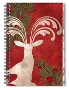 Forest Holiday Christmas Deer Spiral Notebook