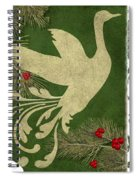 Forest Holiday Christmas Goose Spiral Notebook