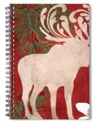 Forest Holiday Christmas Moose Spiral Notebook
