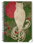 Forest Holiday Christmas Owl Spiral Notebook