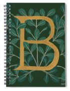 Forest Leaves Letter B Spiral Notebook