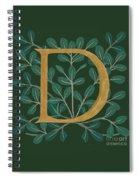 Forest Leaves Letter D Spiral Notebook