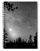 Forest Silhouettes Constellation Astronomy Gazing Spiral Notebook