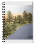 Forest Sunrise Beach Spiral Notebook