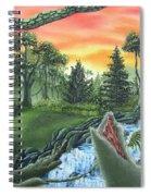 Forest Sunset Cascade Spiral Notebook