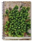 Forest With Green Trees From Above Spiral Notebook