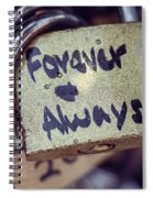 Forever And Always Paris Love Lock Spiral Notebook