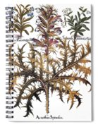 Forget-me-not & Acanthus Spiral Notebook