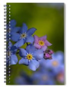 Forget Me Not 2 Spiral Notebook