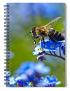 Forget Me Not Bee 2 Spiral Notebook