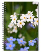 Forget Me Nots Spiral Notebook