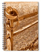Forgetting Texas - Sepia Spiral Notebook