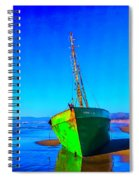Forgotten Green Boat Spiral Notebook