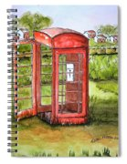 Forgotten Phone Booth Spiral Notebook