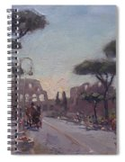 Fori Romani - Street To Colosseo Spiral Notebook