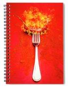 Forking Hot Food Spiral Notebook