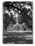 Forsyth Park Black And White Spiral Notebook