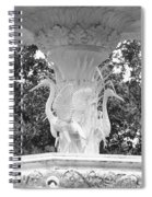 Forsyth Park Fountain - Black And White 4 2x3 Spiral Notebook