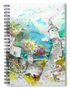 Fort And Houses In Valenca Spiral Notebook