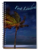 Fort Lauderdale Beach Greeting Spiral Notebook