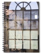 Fort Macon Through Glass Spiral Notebook
