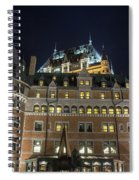 Fort  Of Quebec City At Night Spiral Notebook