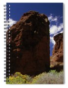Fort Rock Twin Towers- H Spiral Notebook