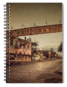 Fort Worth Impressions Stockyards Spiral Notebook