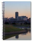 Fort Worth Skyline At Sunset Spiral Notebook