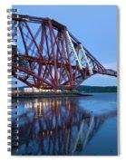 Forth Railway Bridge In Edinburg Scotland  Spiral Notebook