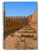 Fortress In Frangokastello Spiral Notebook