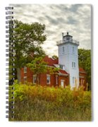 Forty Mile Point Lighthouse Lake Huron Lower Peninsilat Mi  Spiral Notebook