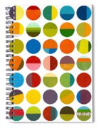 Forty Nine Circles Spiral Notebook