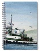 Foss Tugboat Martha Foss Spiral Notebook