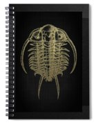 Fossil Record - Golden Trilobite On Black No.2 Spiral Notebook