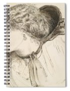 Found - Study For The Head Of The Girl Spiral Notebook