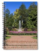 Fountain Among Flowers Spiral Notebook