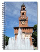 Fountain And Castle Spiral Notebook